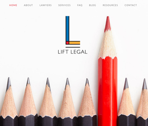 Lift Legal website design by Mike Lalli